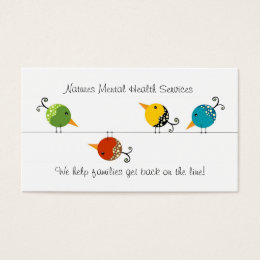 Counseling Services Business Card