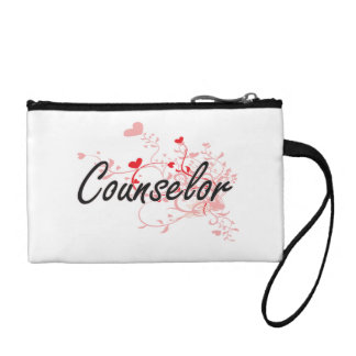Counselor Artistic Job Design with Hearts Change Purse