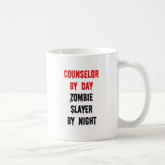 Counselor by Day Zombie Slayer by Night Classic White Coffee Mug