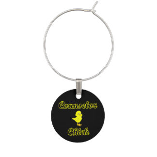 Counselor Chick Wine Glass Charm
