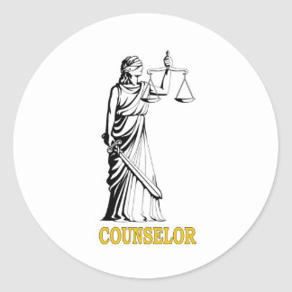 COUNSELOR CLASSIC ROUND STICKER