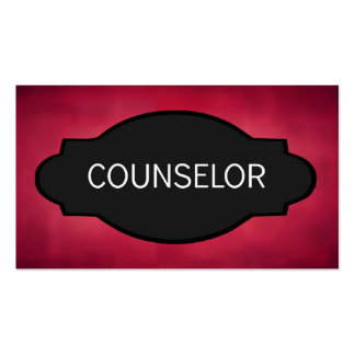 Counselor Elegant Name Plate Business Card