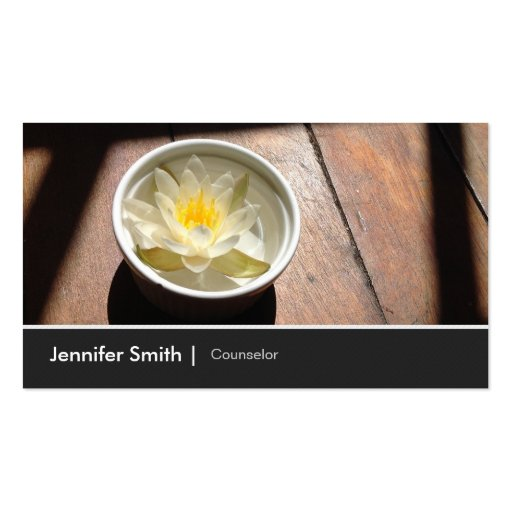 Counselor - Elegant Water Lily Appointment Business Cards