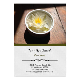 Counselor - Elegant Water Lily Appointment Large Business Card