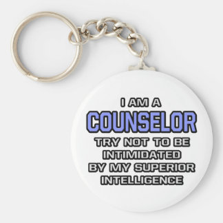 Counselor Joke ... Superior Intelligence Keychain
