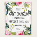 "Counselor Office Decor Typography Graduation Gift Planner<br><div class=""desc"">Counselor Office Decor Typography Graduation Gift - great quote - art prints on various materials. A great gift idea to brighten up your home. Also buy this artwork on phone cases, apparel, mugs, pillows and more. Poster and Art Print on clothing and for your wall – various backgrounds – great...</div>"