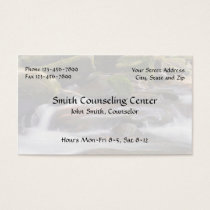 Counselor Psychologist Mental Health Business Card