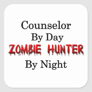 Counselor/Zombie Hunter Square Sticker