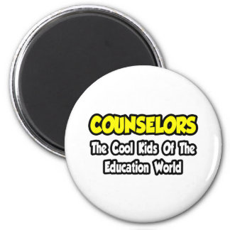 Counselors...Cool Kids of Education World 2 Inch Round Magnet