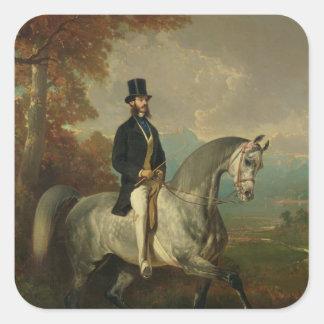 Count Alfred de Montgomery  1850-60 Square Sticker