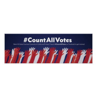 "Count All Votes Poster 36"" x 12"""
