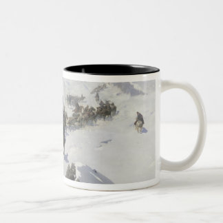 Count Argutinsky crossing the Caucasian Range Two-Tone Coffee Mug