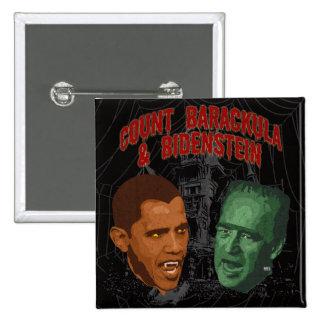 Count Barackula & Bidenstein Pinback Button