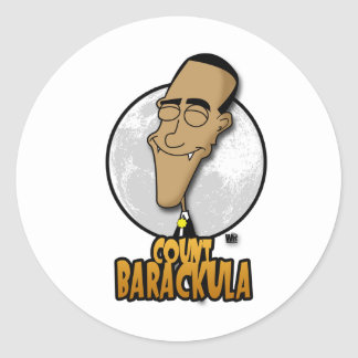 Count Barackula Classic Round Sticker