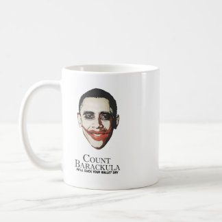 Count Barackula - he'll suck your wallet dry Classic White Coffee Mug
