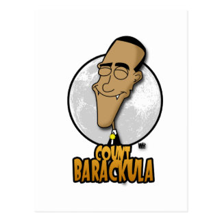 Count Barackula Postcard