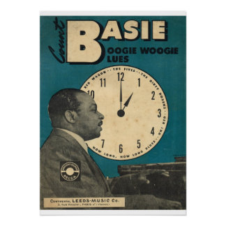 Count Basie Cover of sheet music Poster