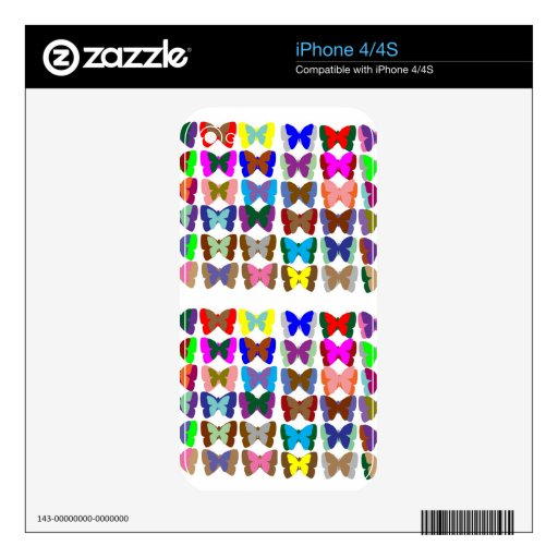 COUNT Butterflies n also LEARN Colors - Kid Stuff iPhone 4S Decals