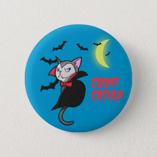 Count Catula Pun Illustration Pinback Button