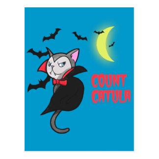 Count Catula Pun Illustration Postcard