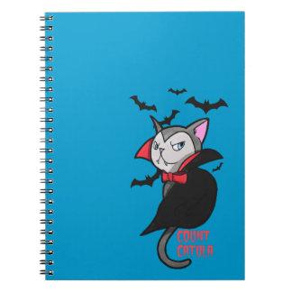 Count Catula Spiral Notebook