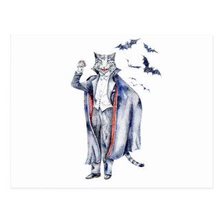 Count Catula Vampire Cat Postcard