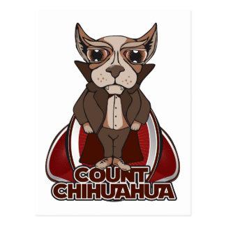 Count Chihuahua Postcard