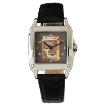 Halloween Themed Count Cocoa Box square watch