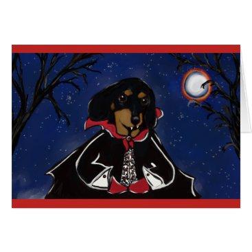 Halloween Themed Count Dachshund Card