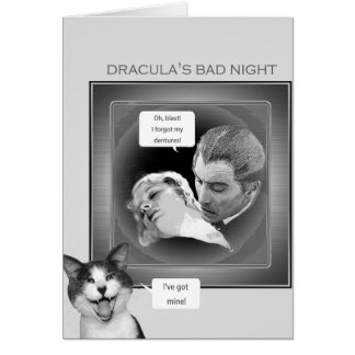 Count Dracula forgets his teeth Card