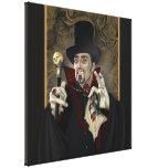 Count Dracula Portrait Wrapped Canvas Canvas Print