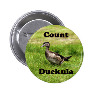 Count Duckula Pinback Button