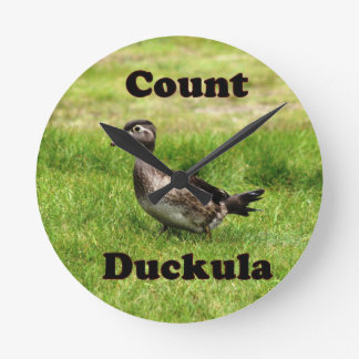 Count Duckula Round Clock