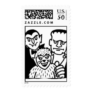 Count, Frank, Werewolf Halloween Postage