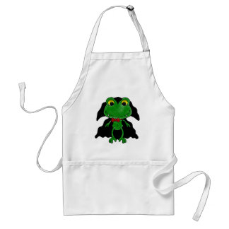 Count Frogula: Cute Vampire Frog Adult Apron