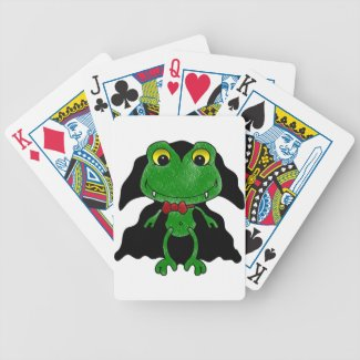 Count Frogula: Cute Vampire Frog Bicycle Playing Cards