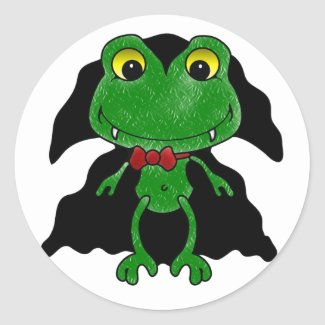 Count Frogula: Cute Vampire Frog Classic Round Sticker