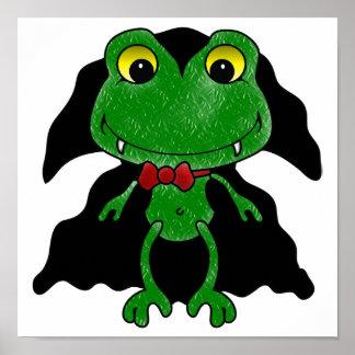 Count Frogula: Cute Vampire Frog Print
