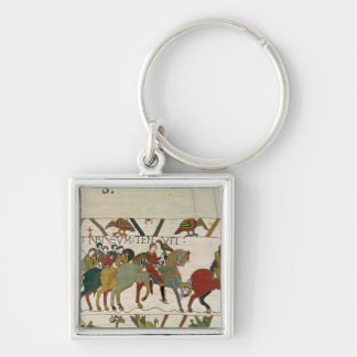 Count Guy leads him to Beurain Silver-Colored Square Keychain