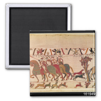 Count Guy of Ponthieu takes Harold, his 2 Inch Square Magnet