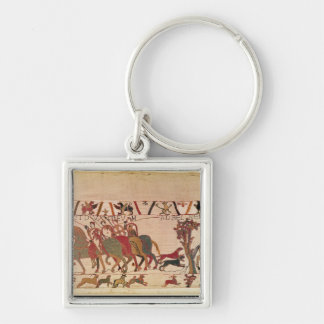 Count Guy of Ponthieu takes Harold, his Silver-Colored Square Keychain