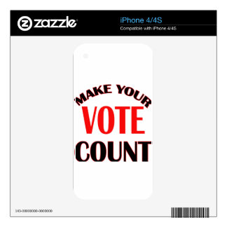 count iPhone 4S decal
