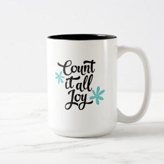 Count It All Joy Two-Tone Coffee Mug