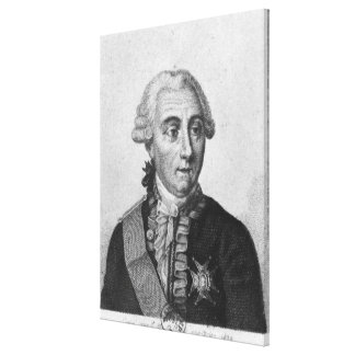 Count Louis de Marbeuf  1829 Canvas Print