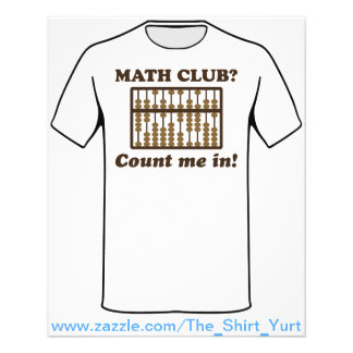 Count Me in the Math Club Flyer