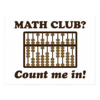 Count Me in the Math Club Postcard