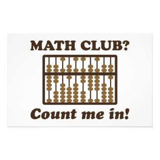 Count Me in the Math Club Stationery