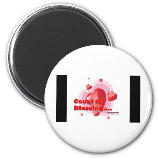 Count my blessing 2 inch round magnet