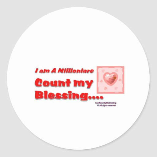 Count my Blessing Sticker