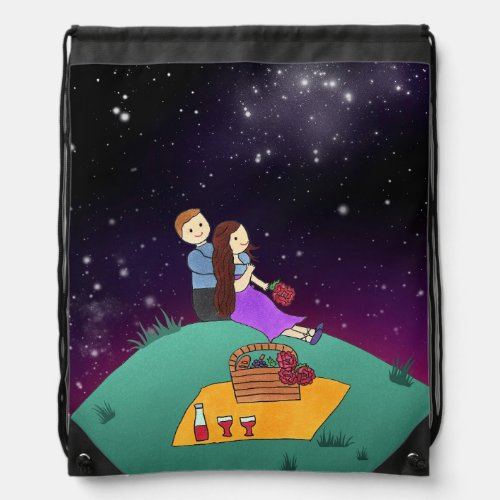 Count My Lucky Stars Drawstring Backpack
